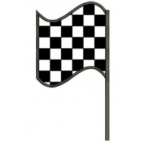 Left Checkered Flag Car Racing Sports Applique Machine Embroidery Design Digitized Pattern