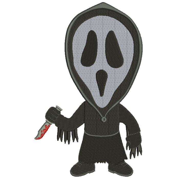 Looks like a character from Scream Filled Machine Embroidery Design Digitized Pattern