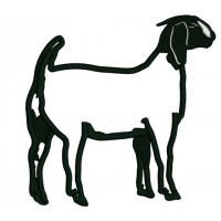 Goat Animal Applique Machine Embroidery Design Digitized Pattern