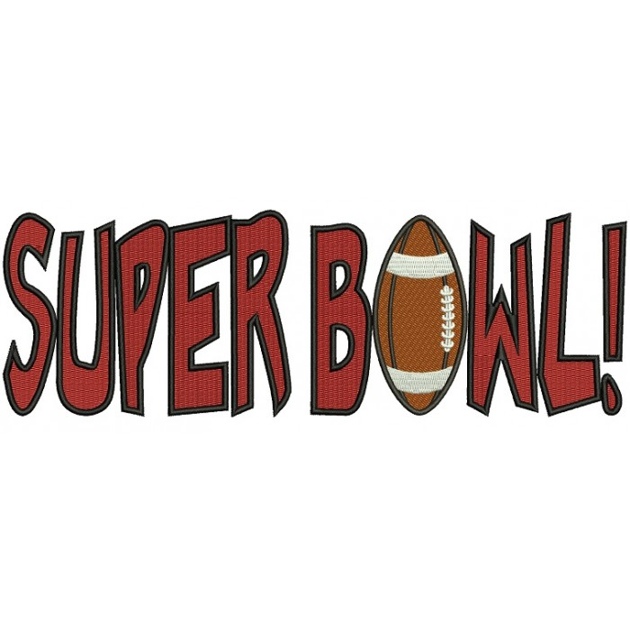 Super Bowl Football Sports Filled Machine Embroidery Design Digitized Pattern