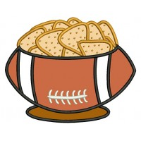 Chips and Football Sports Applique Machine Embroidery Design Digitized Pattern