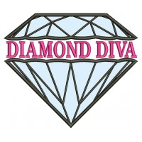 Diamond Diva Applique Machine Embroidery Design Digitized Pattern