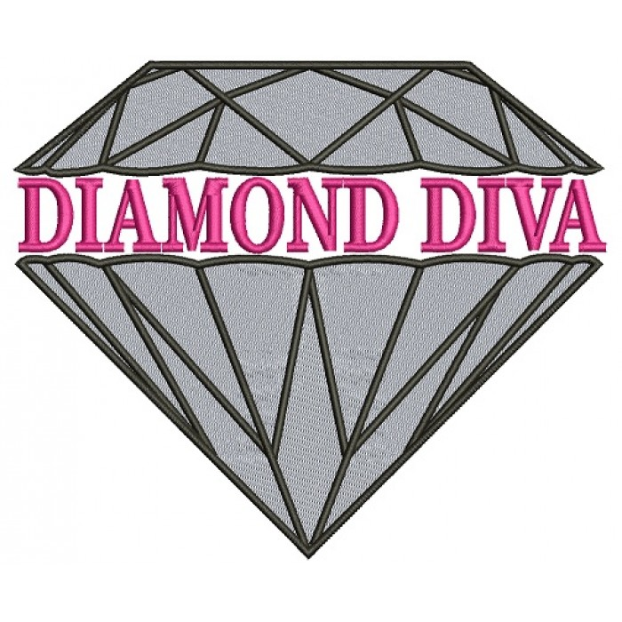 Diamond Diva Filled Machine Embroidery Design Digitized Pattern