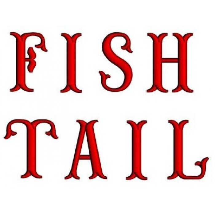 Fish Tail Embroidery Monogram Upper Case Satin Stitch Digitized Font Instant Download 1 2 3 Inch 700x700g