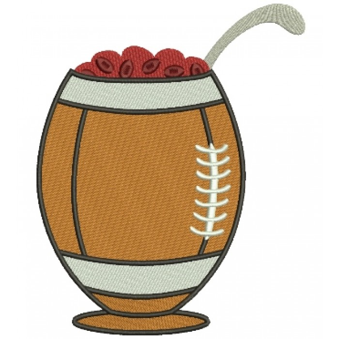 Football Chili Bowl Sports Filled Machine Embroidery Design Digitized Pattern