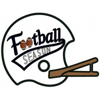 Football Season Sports Applique Machine Embroidery Design Digitized Pattern