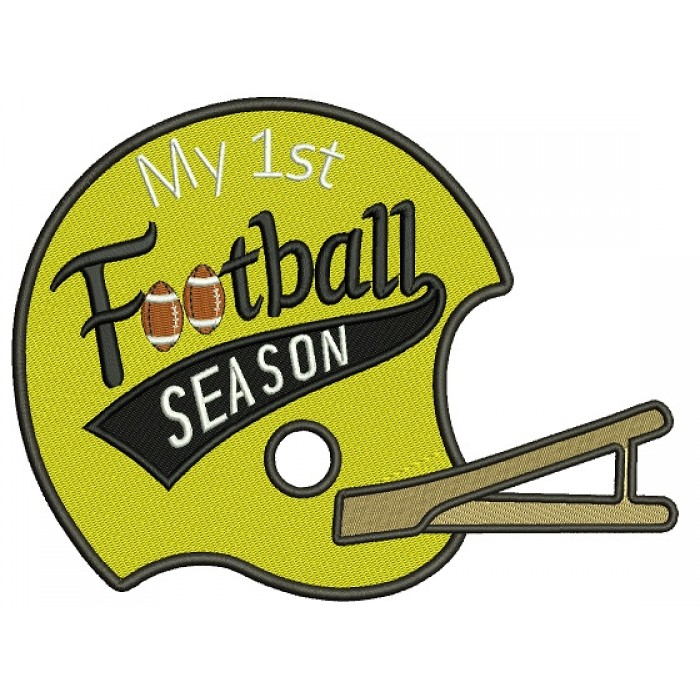 Football Season Sports Filled Machine Embroidery Design Digitized Pattern