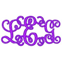 Vine Monogram Interlocking Applique Machine Embroidery Digitized Font Upper and Lower Case 3 4 5 inch