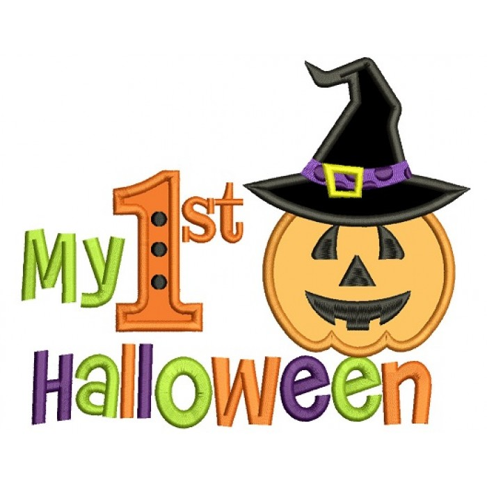 First Halloween Applique Machine Embroidery Design Digitized Pattern