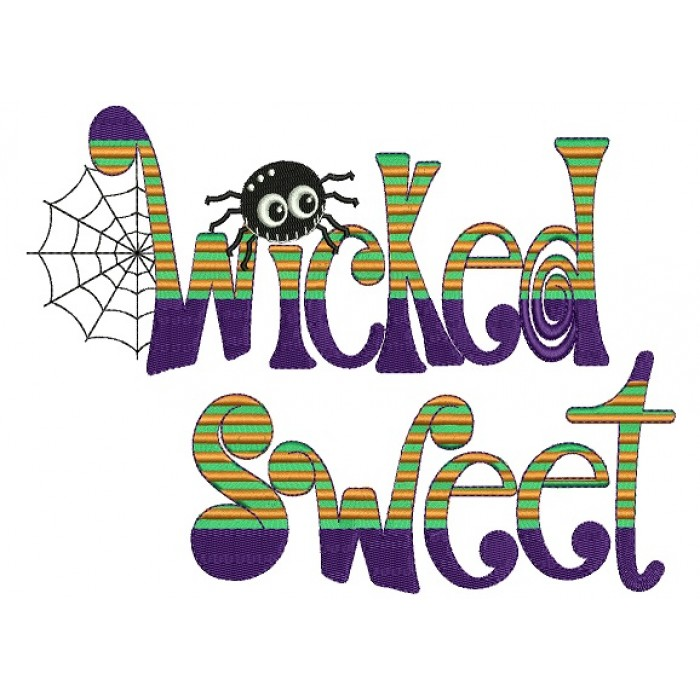 Wicked Sweet Spider Web And Spider Halloween Filled Machine