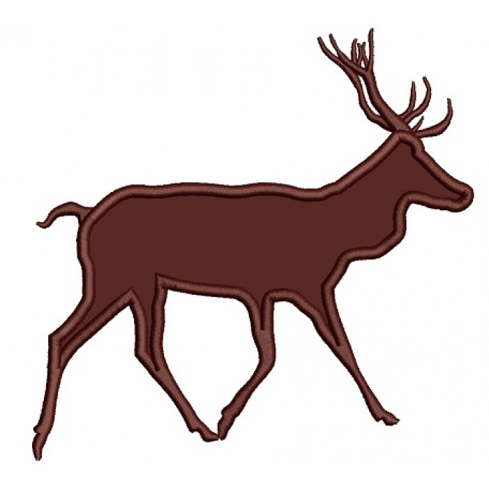 Buck Hunting Deer Applique Machine Embroidery Design Digitized Pattern