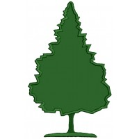 Evergreen Tree Applique Machine Embroidery Design Digitized Pattern