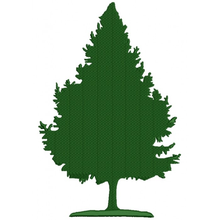 Evergreen Tree Filled Machine Embroidery Design Digitized Pattern