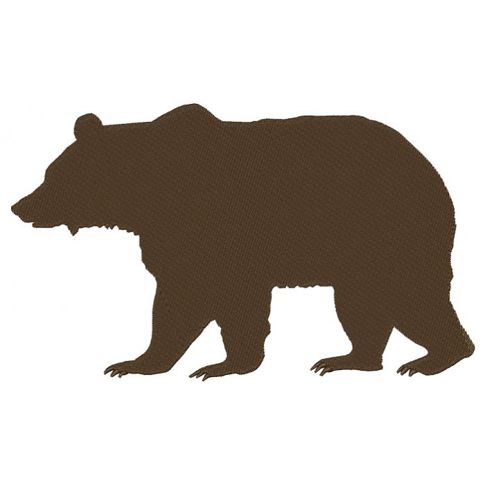 Grizzly Bear Filled Machine Embroidery Design Digitized Pattern