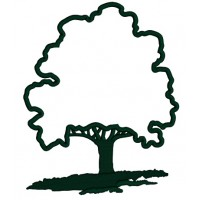 Large Oak Tree Applique Machine Embroidery Design Digitized Pattern