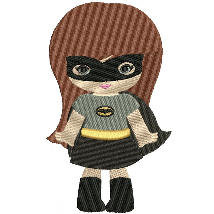Looks Like Super Girl Hero Batman Hands Out Filled Machine Embroidery Design Digitized Pattern