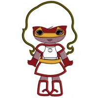 Looks Like Super Girl Hero Iron Man Hands Out Applique Machine Embroidery Design Digitized Pattern