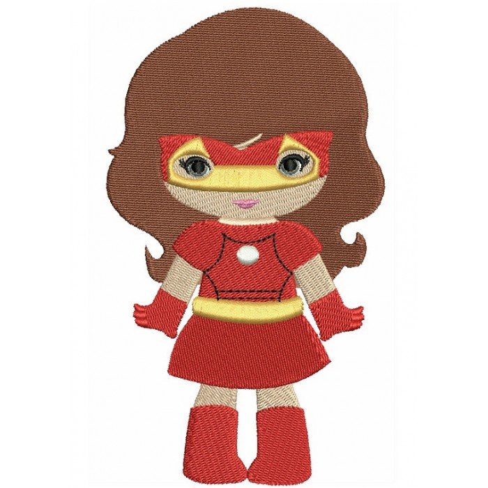 Looks Like Super Girl Hero Iron Man Hands Out Filled Machine Embroidery Design Digitized Pattern