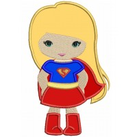 Looks Like Super Girl Hero Superman Hands In Applique Machine Embroidery Design Digitized Pattern