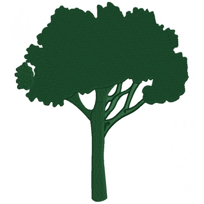 Oak Tree Filled Machine Embroidery Design Digitized Pattern
