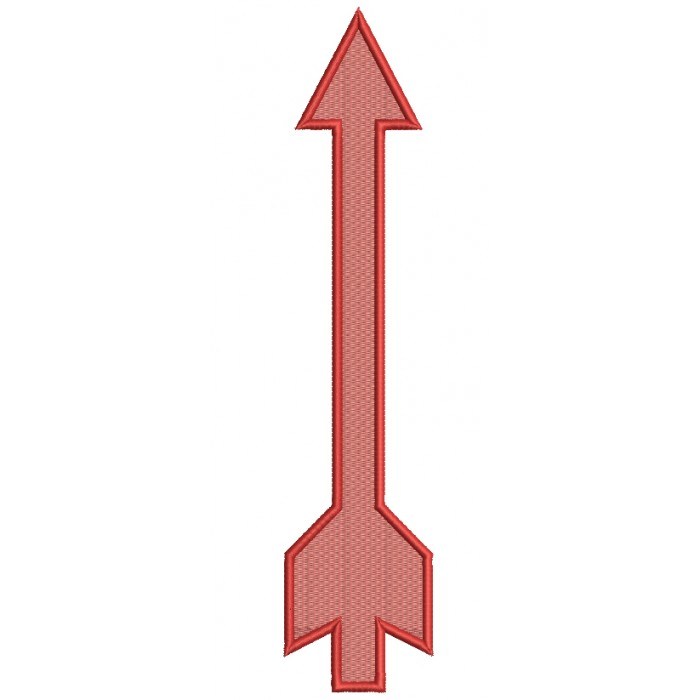 One Way Arrow Filled Machine Embroidery Design Digitized Pattern