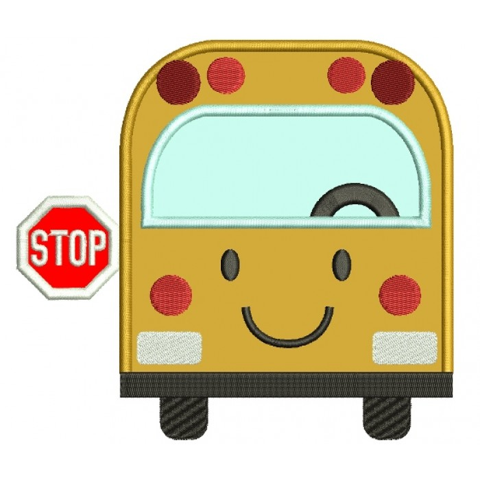 school bus applique machine embroidery design digitized pattern rh embroiderypanda com Building Blocks Clip Art Spring School Bus Clip Art