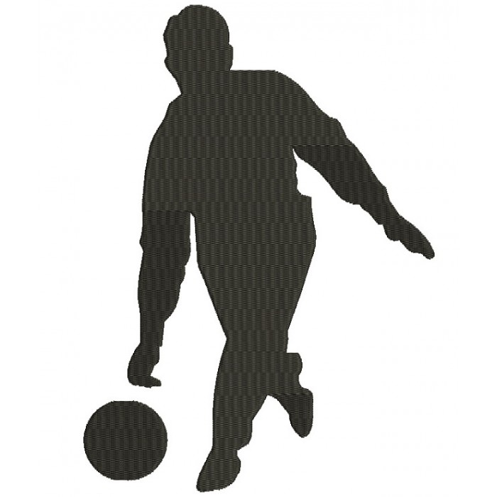 Bowling Man Sports Filled Machine Embroidery Digitized Design Pattern