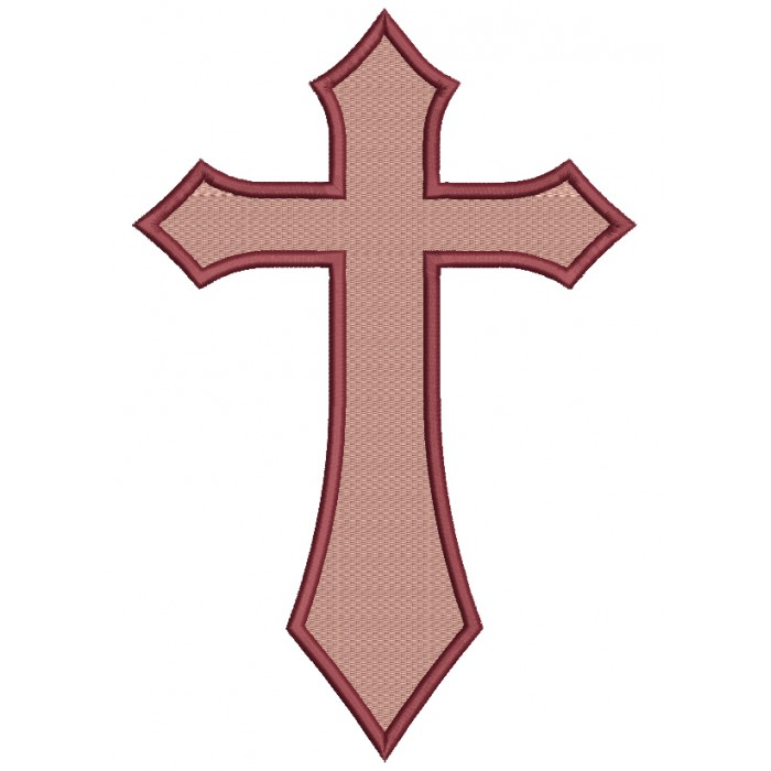 Cross Religious Catholic or Christian Filled  Machine Embroidery Digitized Design Pattern