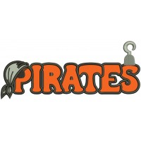 Pirates Big Font Applique Machine Embroidery Digitized Design Pattern
