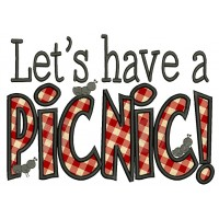 Lets Have a picnic Applique Machine Embroidery Digitized Design Pattern