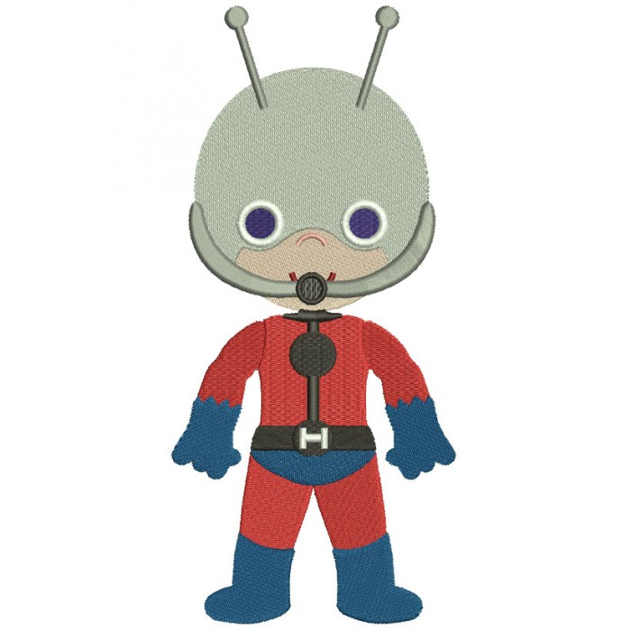 Ant Man Filled Machine Embroidery Digitized Design Pattern