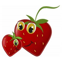 Mommy and Me Cute Strawberry Applique Machine Embroidery Digitized Design Pattern