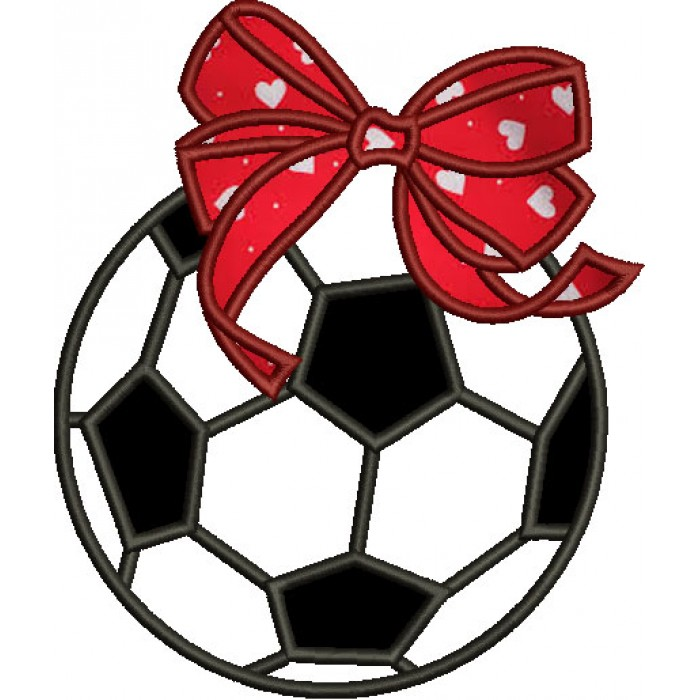 Soccer Ball Girl Applique Machine Embroidery Digitized Design Pattern 700x700g