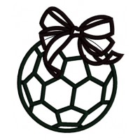 Soccer Ball Girl Applique Machine Embroidery Digitized Design Pattern