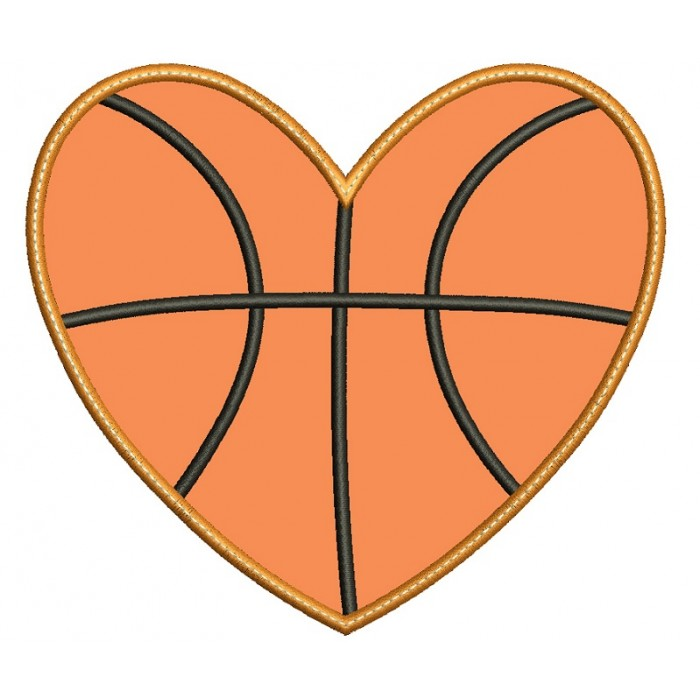 Basketball bean Stitch Sports Applique Machine Embroidery Digitized Design Pattern