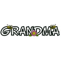 Grandma Flowers and Bees Applique Machine Embroidery Digitized Design Pattern