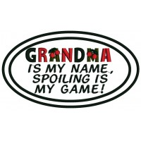 Grandma is my name spoiling is my game Applique Machine Embroidery Digitized Design Pattern