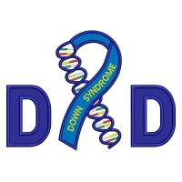 Dad Down Syndrome Awareness Applique Machine Embroidery Digitized Design Pattern