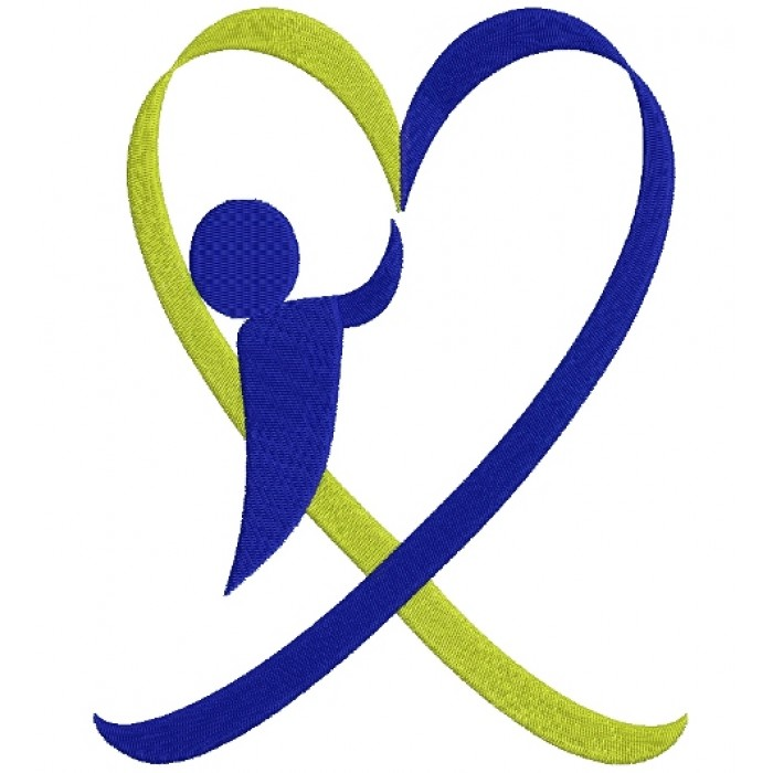 Down Syndrome Awareness Heart Boy Filled Machine Embroidery Digitized Design Pattern
