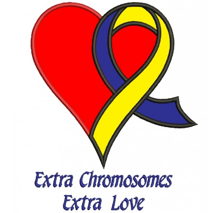Extra Chromosome Extra Love Heart Down Syndrome Awareness