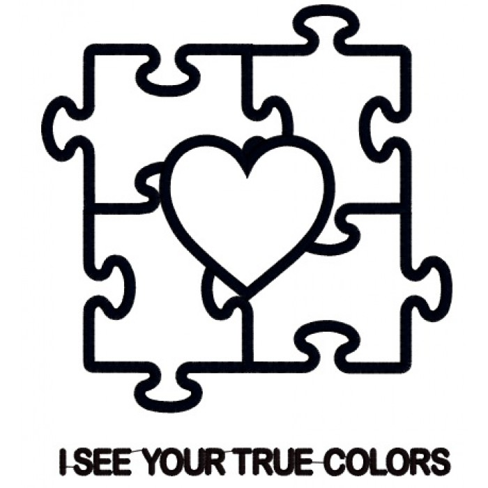 ... Puzzle with Heart Applique Machine Embroidery Digitized Design Pattern