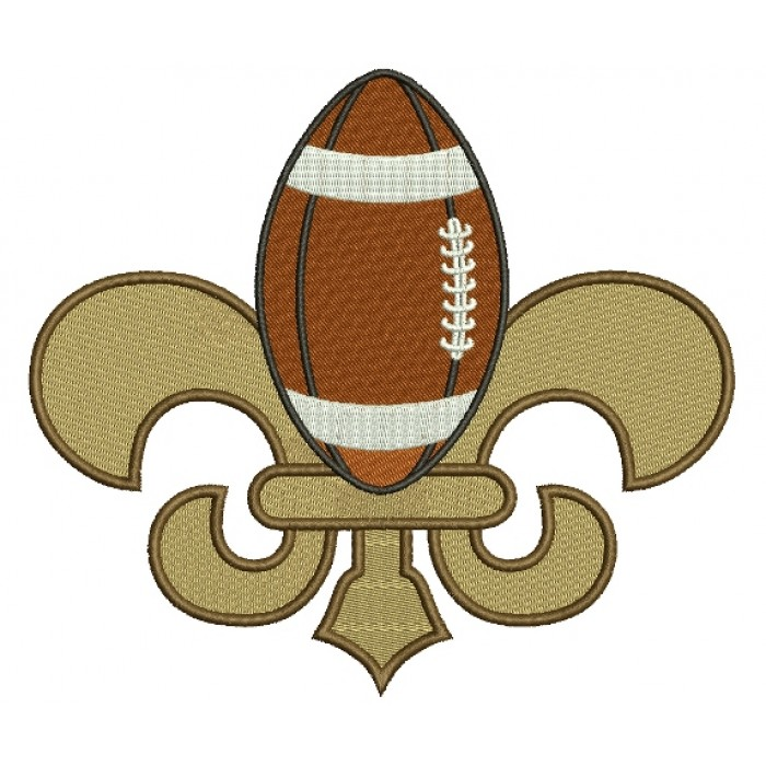Fleur de lis Easter Footlball Filled Machine Embroidery Digitized Design Pattern