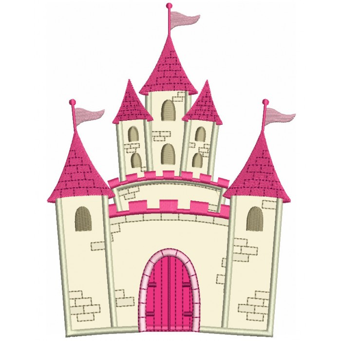 Princess Palace Applique Machine Embroidery Digitized Design Pattern