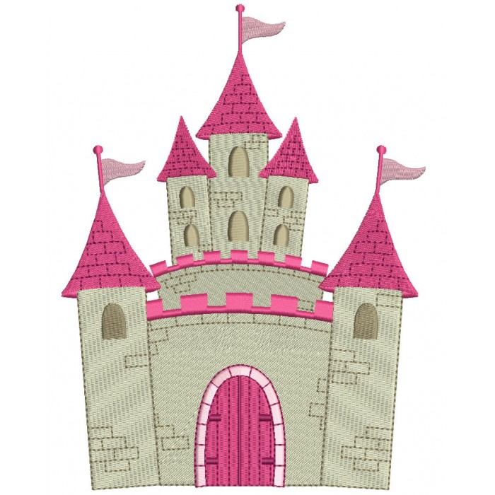 Princess Palace Filled Machine Embroidery Digitized Design Pattern