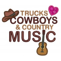 Trucks Cowboys and Country Music Applique Machine Embroidery Digitized Design Pattern