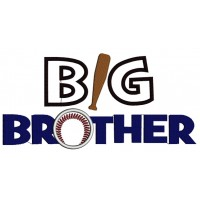 Big Brother Baseball Applique Machine Embroidery Digitized Design Pattern