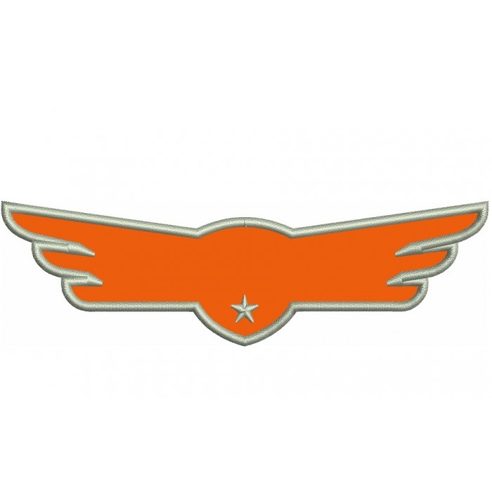 Airplaine Wings Applique Machine Embroidery Digitized Design Pattern
