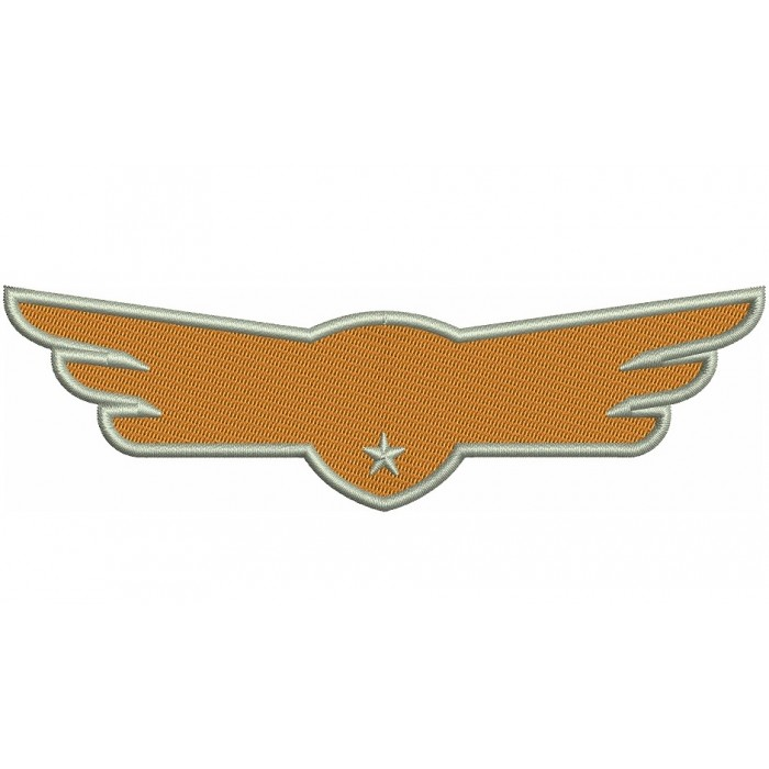 Airplaine Wings Filled Machine Embroidery Digitized Design Pattern