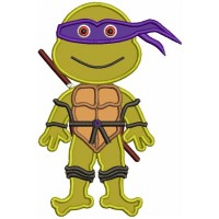Donatello Teenage Ninja Turtle Applique Machine Embroidery Design Digitized Pattern