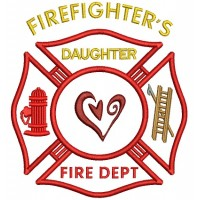 Firefighters Daughter Fire Department Applique Machine Embroidery Digitized Design Pattern